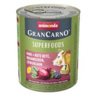 Animonda GranCarno Adult Superfoods 6 x 800 g - hovězí + červená řepa, ostružiny, pampeliška