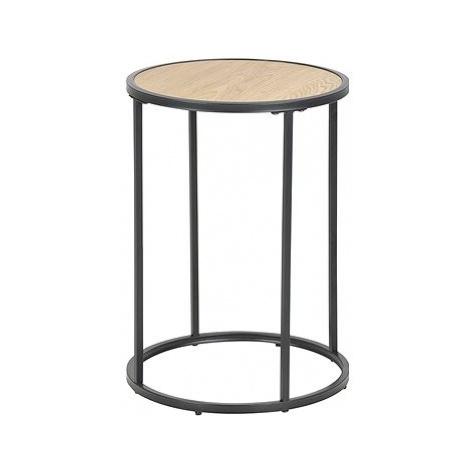 Odkládací / noční stolek kulatý Seashell, 40 cm, dub Design Scandinavia
