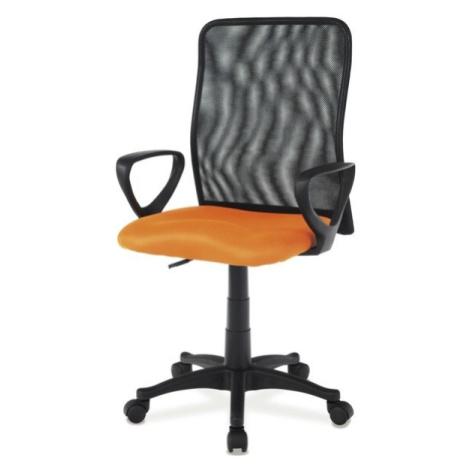 Sconto Kancelářská židle FRESH růžová/černá