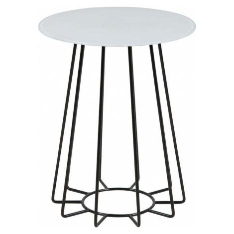 Odkládací stolek s deskou z tvrzeného skla Actona Casia, ⌀ 40 cm
