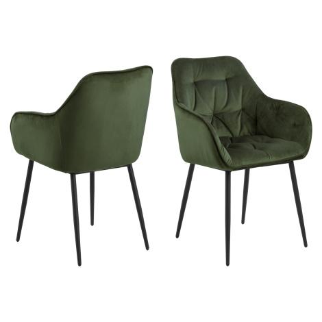 Dkton Designové židle Alarik zelená