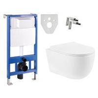 Sada podomítkový modul MEXEN FENIX SLIM + závěsná WC mísa CARMEN + prkénko DUROPLAST SLIM