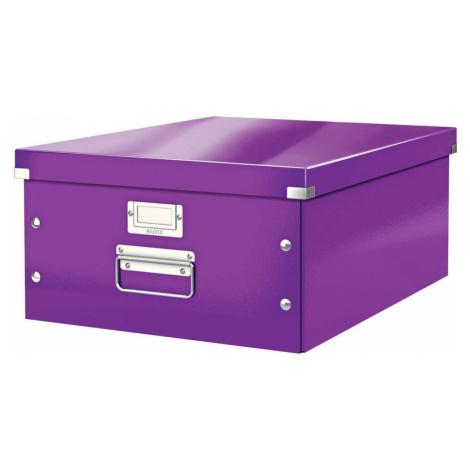 Fialová úložná krabice Leitz Universal, délka 48 cm