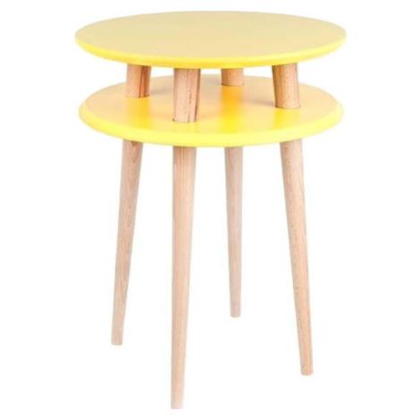 Žlutý odkládací stolek Ragaba UFO, Ø 45 cm