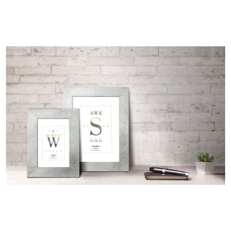 Světle šedý rámeček na fotografii Styler Yellowstone, 36 x 46 cm
