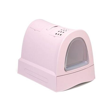 IMAC Krytý kočičí záchod s výsuvnou zásuvkou 40 × 56 × 42,5 cm růžový