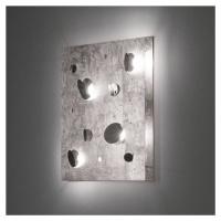 Knikerboker Knikerboker Buchi nástěnné světlo 60x60cm stříbro