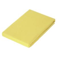 Novel PROSTĚRADLO NAPÍNACÍ, žerzej, žlutá, 180/200 cm - žlutá