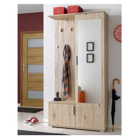 Předsíňová stěna CUBA ( věšák, botník, zrcadlo, skříň ) Casarredo