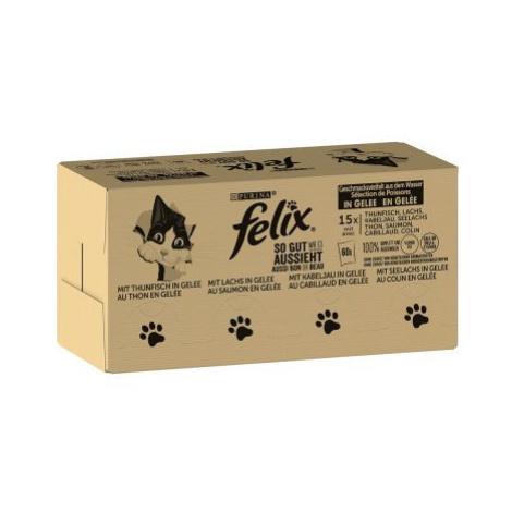 """Jumbobalení Felix (""""So gut..."""") kapsičky 120 x 85 g - míchané balení (hovězí, kuřecí, treska a t"""