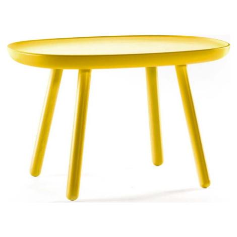 Žlutý stolek z masivu EMKO Naïve, 61 x 41 cm