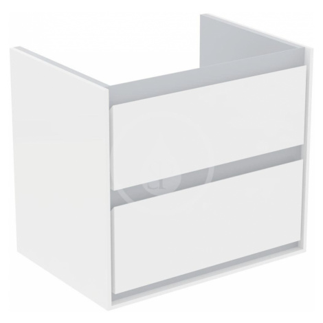 IDEAL STANDARD Connect Air Skříňka pod umyvadlo CUBE 650 mm, lesklý bílý/matný světle šedý lak E