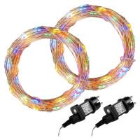 VOLTRONIC 68049 Sada 2 kusů světelných drátů - 200 LED, barevná