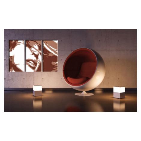 Ručně malovaný POP Art Kylie Minogue 3 dílný 120x80cm