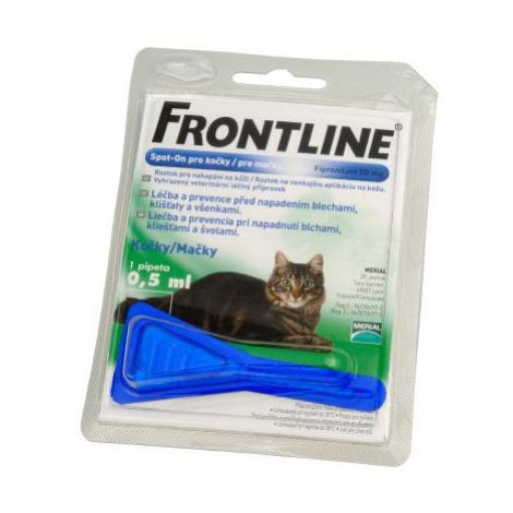 FRONTLINE SPOT-ON pro kočky roztok pro nakapání na kůži - 2 x 0,50 ml (APO)