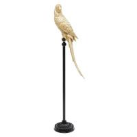 Socha Papoušek na bidýlku Zlatý 116cm