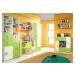 Meblar Televizní stolek LABYRINT LA11 Meblar 125/53/52 výprodej krém/orange Barva: oranzova