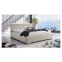 Eka Čalouněná postel Anastasia 120x200 cm Barva látky Trinity: (2301) Krémová bíla