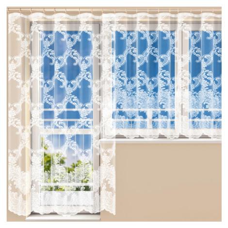 Hotová žakárová záclona HENRIETA - balkonový komplet Polontex