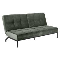 Dkton Designová rozkládací sedačka Amadeo 198 cm lesnická zelená
