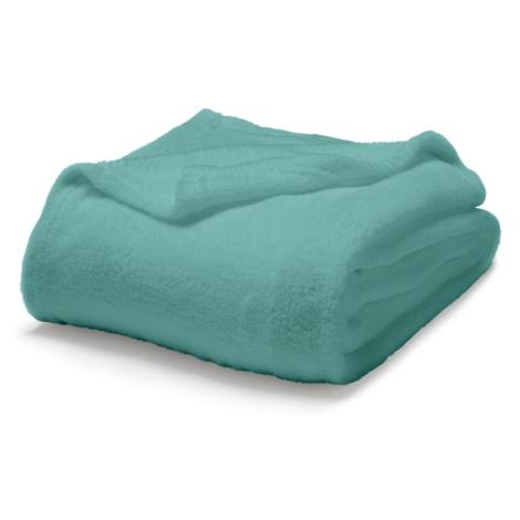 TODAY Maxi fleece deka Diabolo menthe - tyrkysová