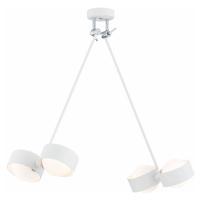 EULUNA LED závěsné světlo Macedo, čtyři zdroje, bílé
