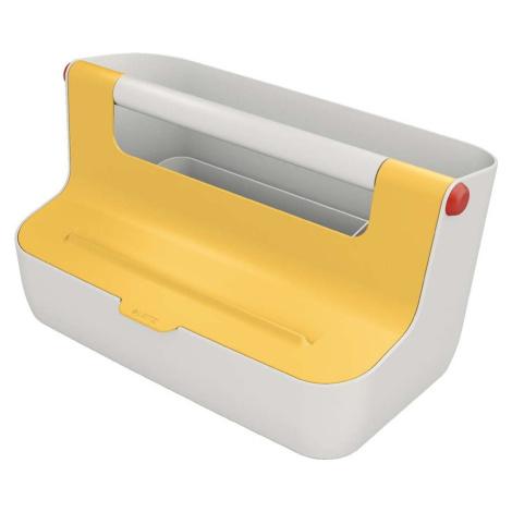 Žlutý přenosný box s organizérem Leitz Cosy