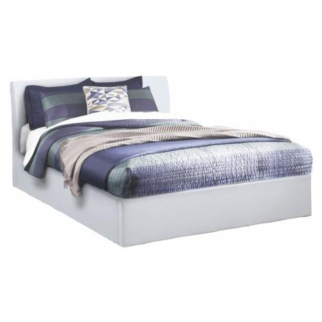 Manželská postel s úložným prostorem, bílá, 160x200, KERALA Tempo Kondela