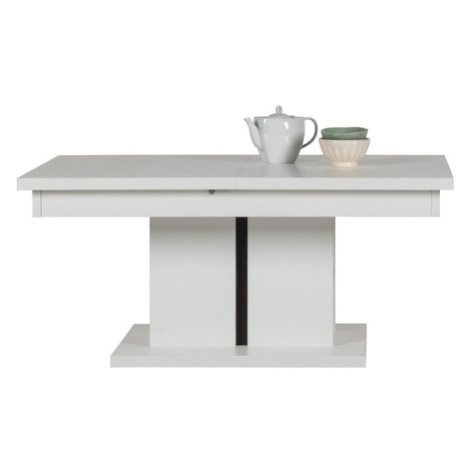 Sconto Konferenční stolek IVONA bílá, rozkládací 114-144 cm