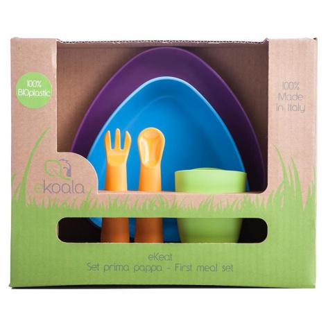 eKoala eKeat BIO plast Dětská jídelní sada 5 ks