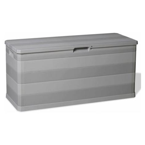 Zahradní úložný box 280 l Černá vidaXL