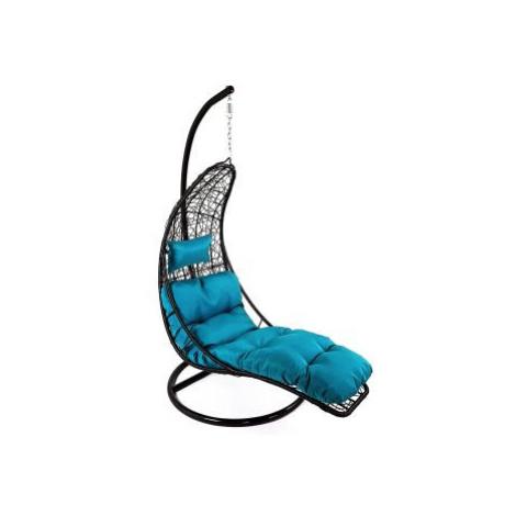 Závěsné relaxační křeslo NORA - modrý sedák FOR LIVING