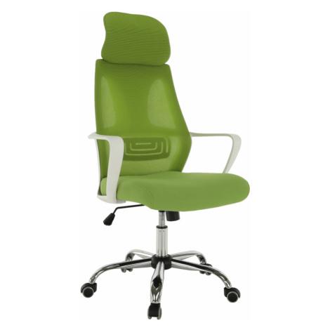 Kancelářské křeslo, zelená / bílá, TAXIS Tempo Kondela