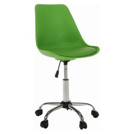 Kancelářská židle, zelená, DARISA Tempo Kondela