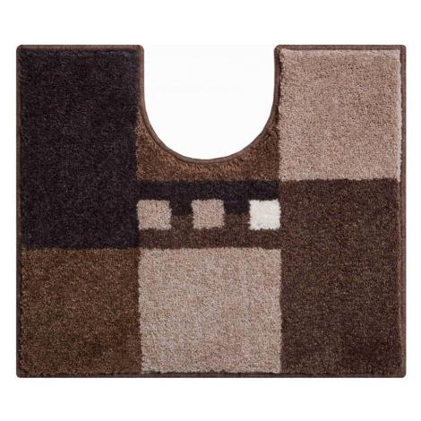 Koupelnová předložka Grund Merkur | hnědá Typ: 50x60 cm WC výřez