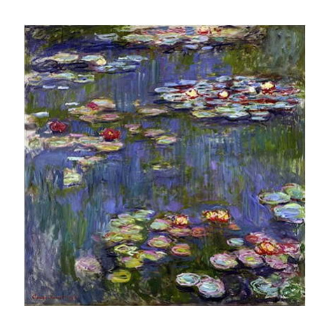 Reprodukce obrazu Claude Monet - Water Lilies, 50 x 50 cm Fedkolor