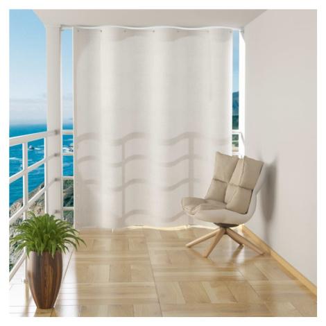Bílý balkonový nábytek