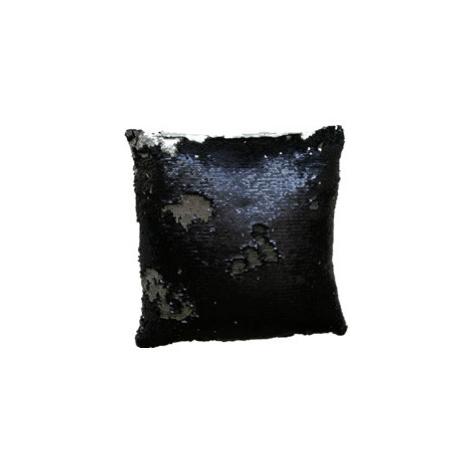 JAHU MAGIC Povlak na polštář s flitry 40 x 40 cm - černá