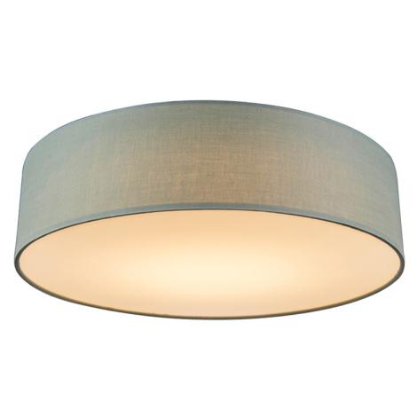 Stropní lampa zelená 40 cm vč. LED - Drum LED QAZQA