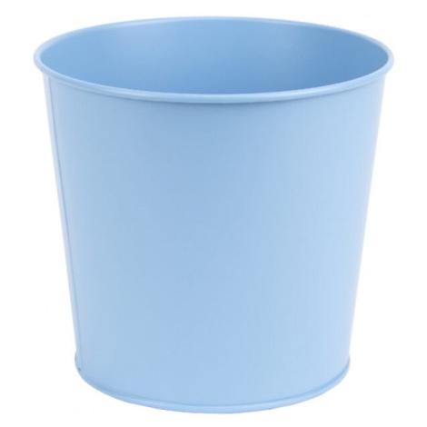 Kovový květináč 15,4cm veselá modrá NOVAline
