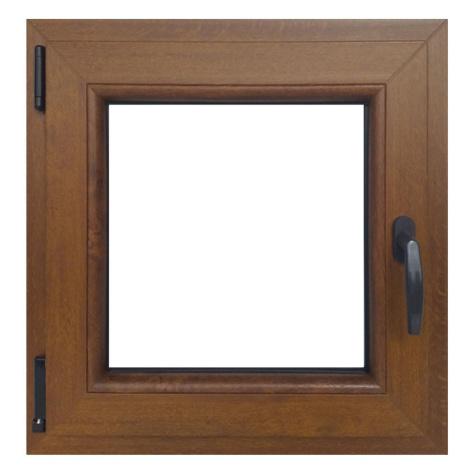Okno levé 60x60cm zlatý dub BAUMAX