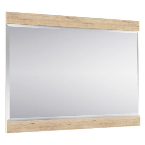 Přírodní závěsné zrcadlo na zeď vonící dřevem dub TK235 Tempo Kondela