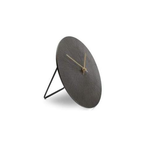 Hodiny stolní kulaté ZONE kov S&P černá 20cm Aerts