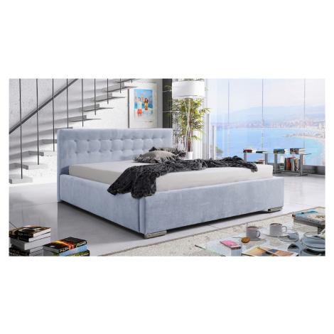 Eka Čalouněná postel Anastasia 90x200 cm Barva látky Trinity: (2320) Pastelová modrá