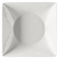 Čtvercový hluboký talíř Mesh Rosenthal bílý 20 cm
