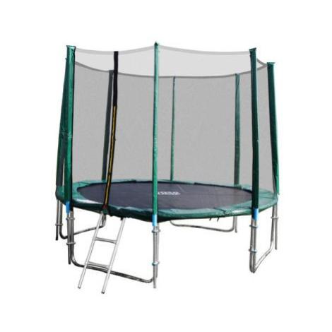 GoodJump 4UPVC zelená trampolína 366 cm s ochrannou sítí + žebřík + krycí plachta FOR LIVING