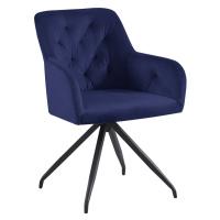 Otočná židle, modrá Velvet látka/černá, VELEZA