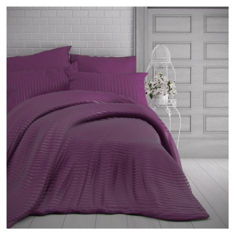 Kvalitex Saténové povlečení Stripe purpurová