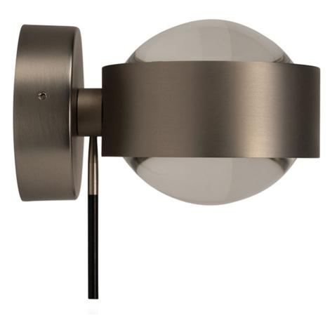 Top Light LED nástěnné světlo Puk Wall+, nikl matný TOP-LIGHT