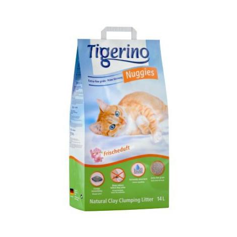Kočkolit Tigerino Nuggies - Frischeduft - Výhodné balení 2 x 14 l
